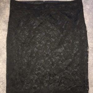 Covington Black Lace lined skirt w/back slit
